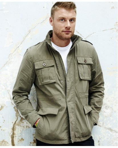 "Flintoff by Jacamo Military Jacket - £50 Available in Black or Khaki. Designed by Andrew ""Freddie"" Flintoff exclusively for Jacamo. Shop now >> http://www.jacamo.co.uk/shop/product/details/show.action?pdLpUid=RZ346&pdBoUid=5137"