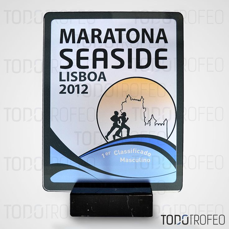 TROFEO MARATÓN SEASIDE LISBOA 2012.   Diseñamos los trofeos para su evento deportivo. Pide su presupuesto a través de: todotrofeo@todotrofeo.com    LISBOA SEASIDE MARATHON TROPHY 2012.  We design your sport event trophies. Request your budget in: todotrofeo@todotrofeo.com