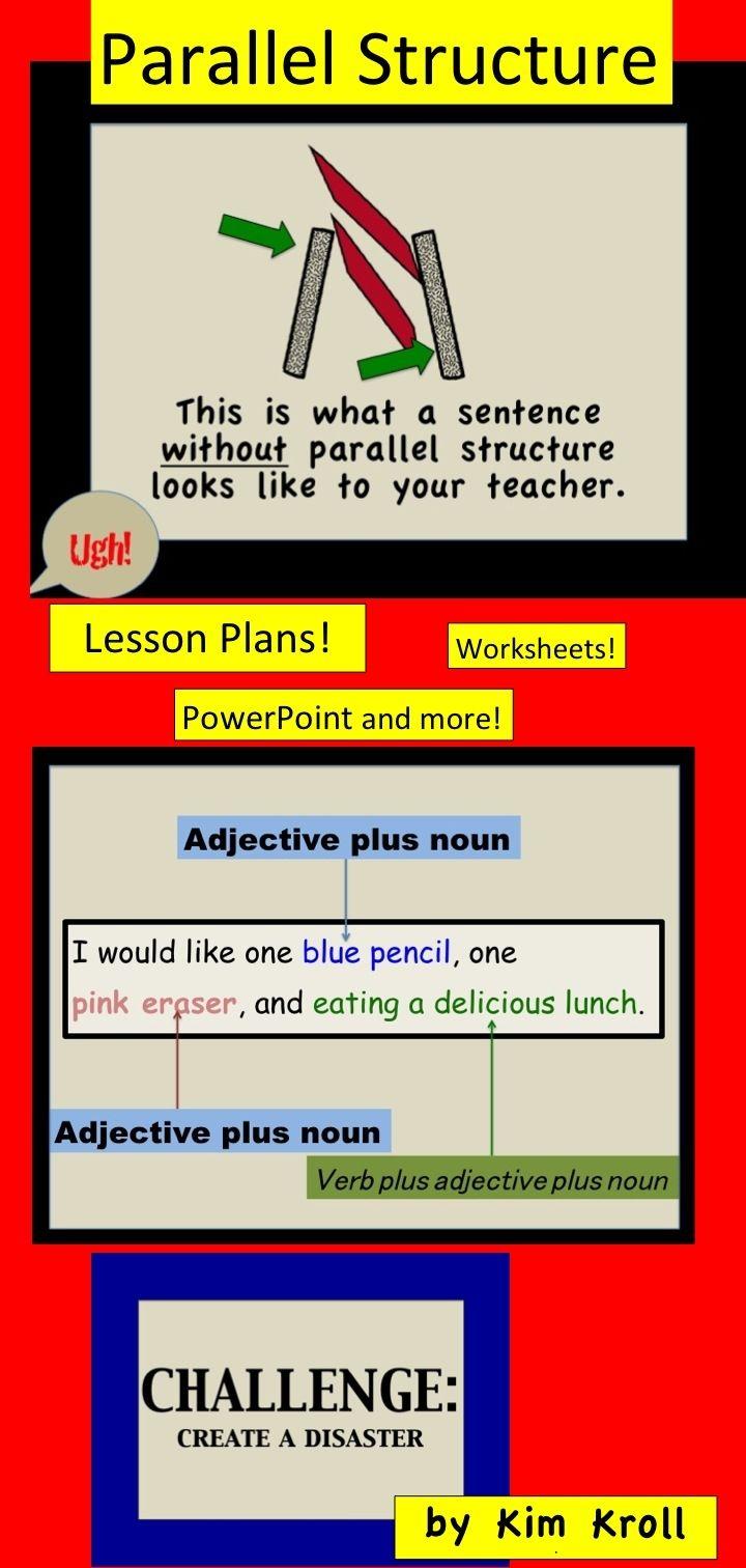 22 Best Parallel Structure Images On Pinterest Parallelism Grammar