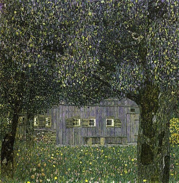 Gustav Klimt (Austrian, 1862-1918). Farm House in Upper Austria.