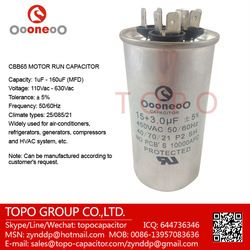 split air conditioner capacitor with 3 terminals  Specifications  1. split air conditioner capacitor  2. Explosion-proof equipment  3. Good pressure resistance function