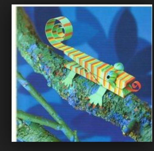 Great craft lizard clothespin for weird animals // Animales con pinzas