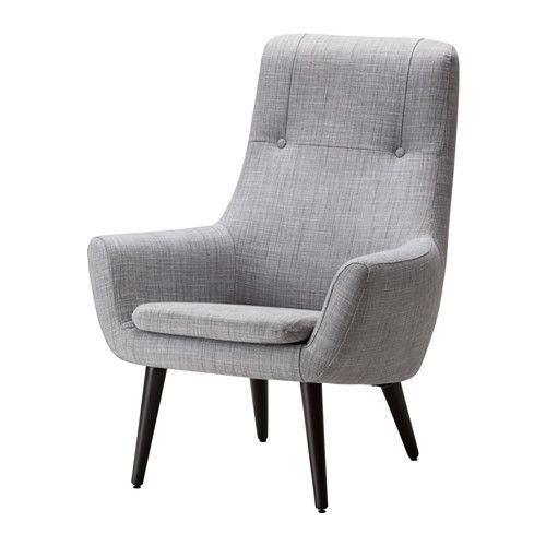 HEMSTANÄS Fåtölj med hög rygg, Isunda grå, trä 2 495 kr från IKEA