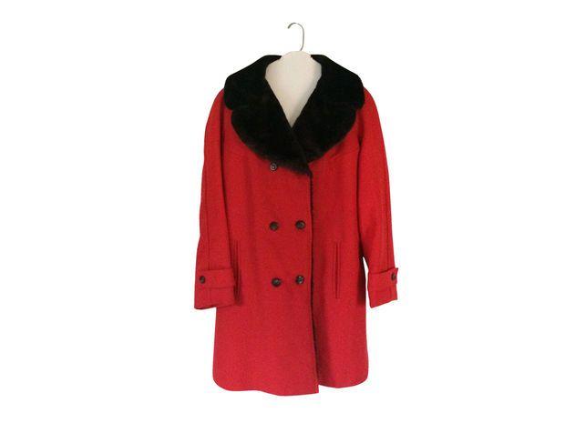 Vintage Brown Faux Fur Coat Women Red Coat Women Winter Coat Faux Fur Jacket Women Outerwear 60s Coat 70s Coat Women Clothing Women Clothes