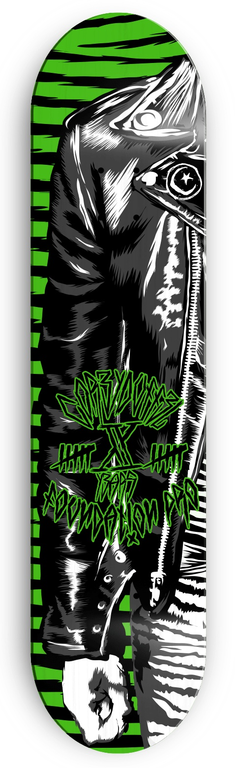 My design is part of a design contest to be the new official Corey Duffel 10 years deck in Foundation skateboards. If you like this design please share it on facebook in this link https://www.facebook.com/foundationskateboards/app_394847857275848