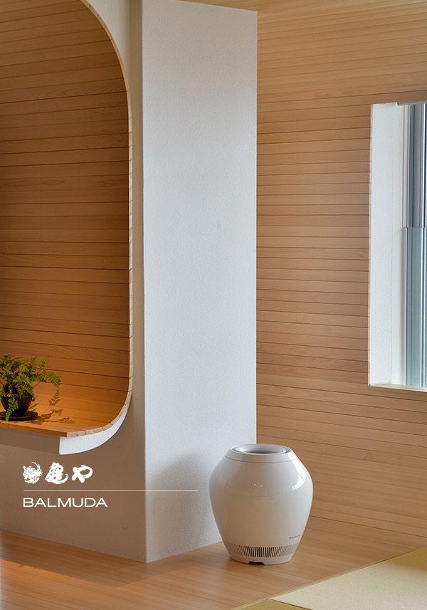 バルミューダの製品が導入されているのは、山形県 湯野浜温泉「亀や」の最上階に位置する特別フロア「HOURAI」。写真は加湿器「Rain」。http://www.kameya-net.com/hourai/ https://www.facebook.com/balmuda/posts/852728568094187
