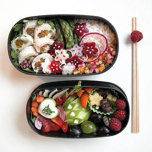 Colorful and healthy bento