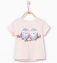 Shirt met vogels en bloemen-Topjes-Baby meisje (3-36 maanden)-KINDEREN | ZARA Nederland