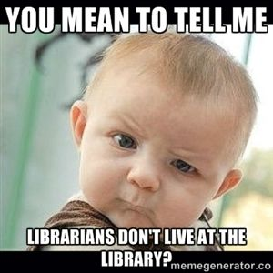 ".I can't resist this! We ""just about"" live at the library!"
