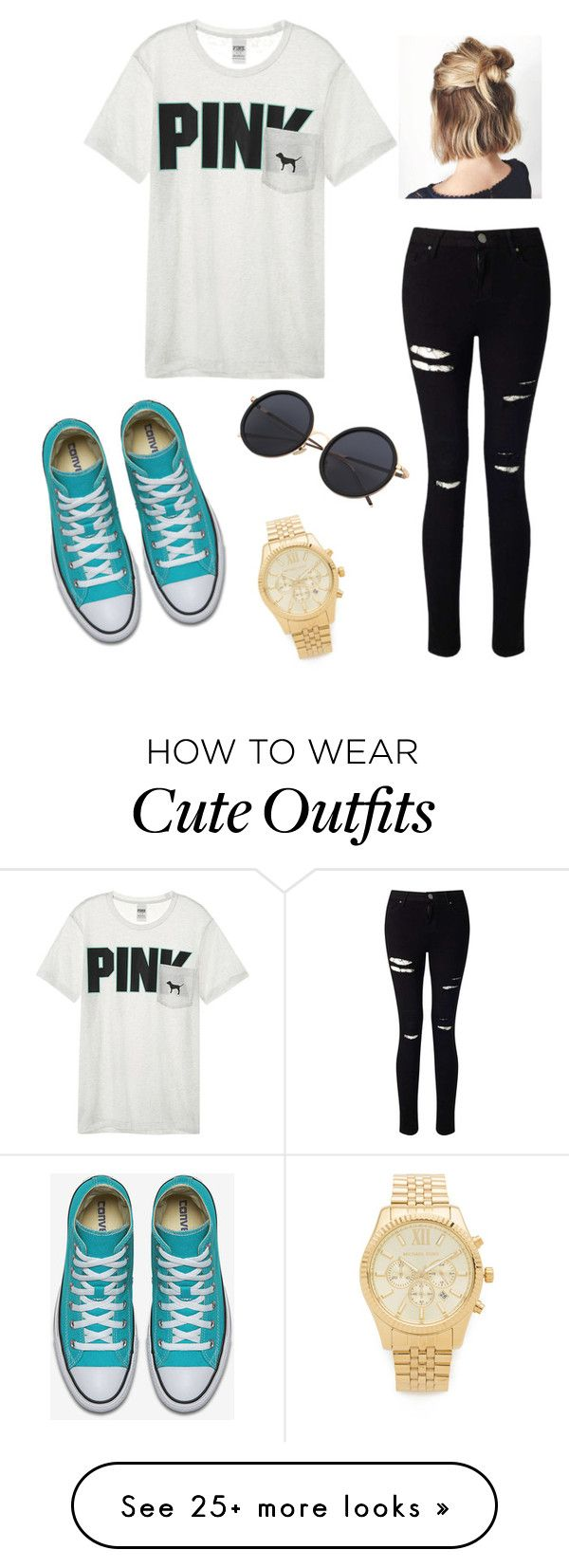 """bum outfit"" by braelyn-y on Polyvore featuring Miss Selfridge, Victoria's Secret and Michael Kors"