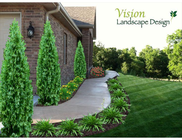 25 best ideas about Sidewalk landscaping on PinterestFront