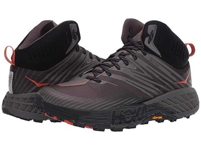 Hoka One One Speedgoat Mid 2 Gtx Anthracite Dark Gull Grey Men S Shoes The Athletic Hoka One One Speedgoat Mid 2 Gtx S Mens Grey Shoes Hoka Shoes Men S Shoes