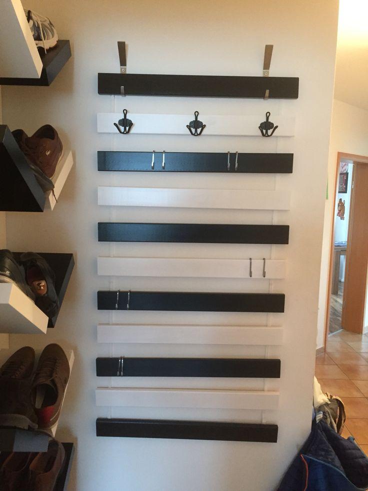 Garderobe aus Lattenrost, Ikea Hack, Sultan lade