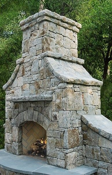 outdoor fireplace.... Wow!