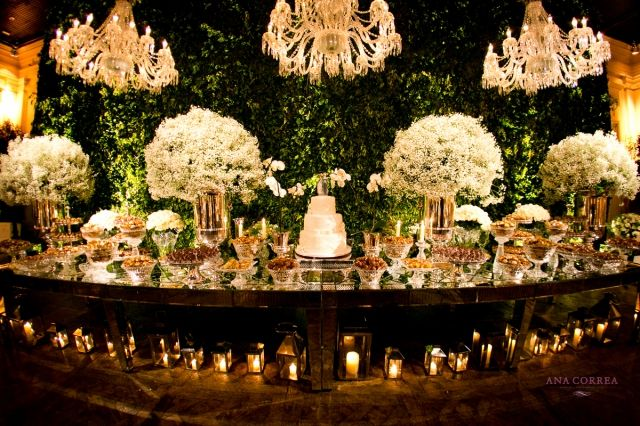 Decoração de Casamento Clássico - Verde e Branco - Por Roberta Fasano Fotos: Ana Correa