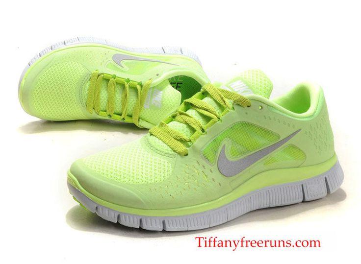 Half Off Discount Nike Free Run 3 Womens Size 9 Liquid Lime Metallic Silver Nike  Free Run 2014 Running Shoes 60001206baac