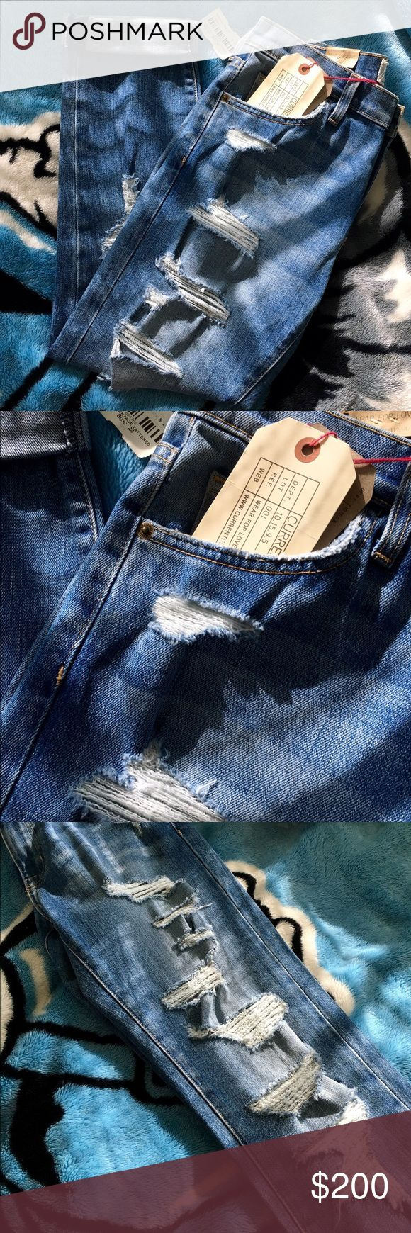 """Current/Elliott """"The Fling"""" Vintage Tattered Jeans A slim version of the classic boyfriend. Cropped and meant to be worn low, relaxed, and rolled at the ankle. Current/Elliott Jeans"""