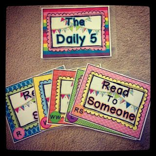Organized Chaos: The Daily Five. These are super cute! Love them :)