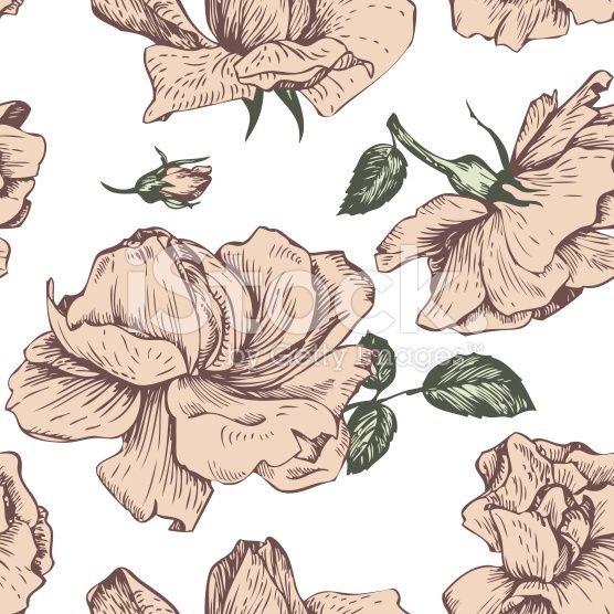 vintage vector seamless floral pattern royalty-free stock vector art