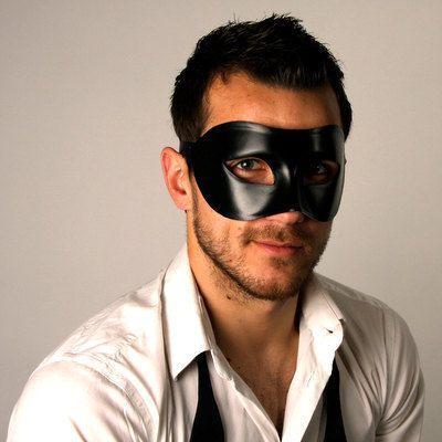 Classic Black Male Mens Venetian Masquerade Ball Mask.