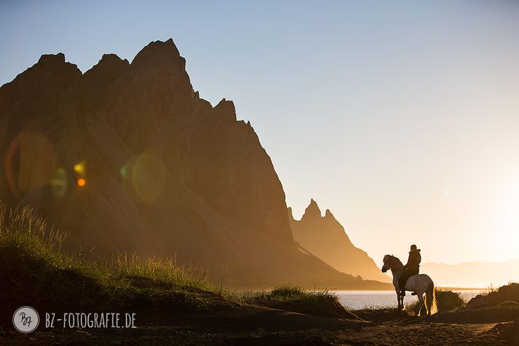 #Horse and #rider arriving at one of #Iceland's most beautiful beaches on an early midsummer morning…