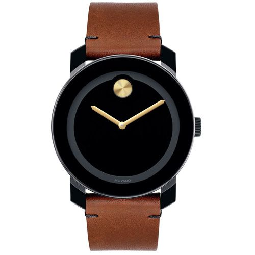 Relógio Movado Masculino Couro Marrom - 3600305