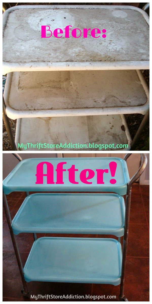 My Thrift Store Addiction: Vintage Cosco Cart Makeover #VintageFinds #CoscoCarts #Makeovers #DIY
