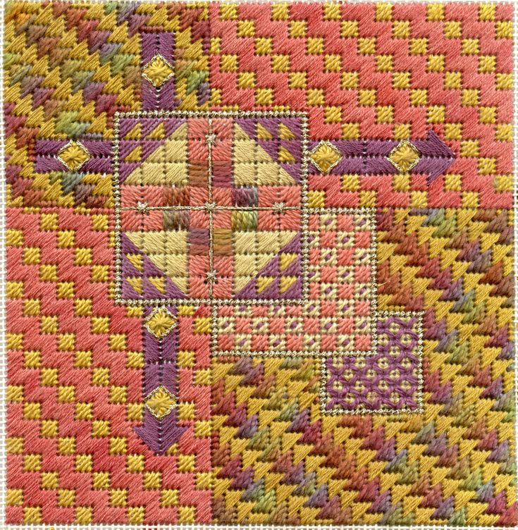 Terry Dryden Needlework Designs - Color Texture Stitch - New Design: AutumnArrows
