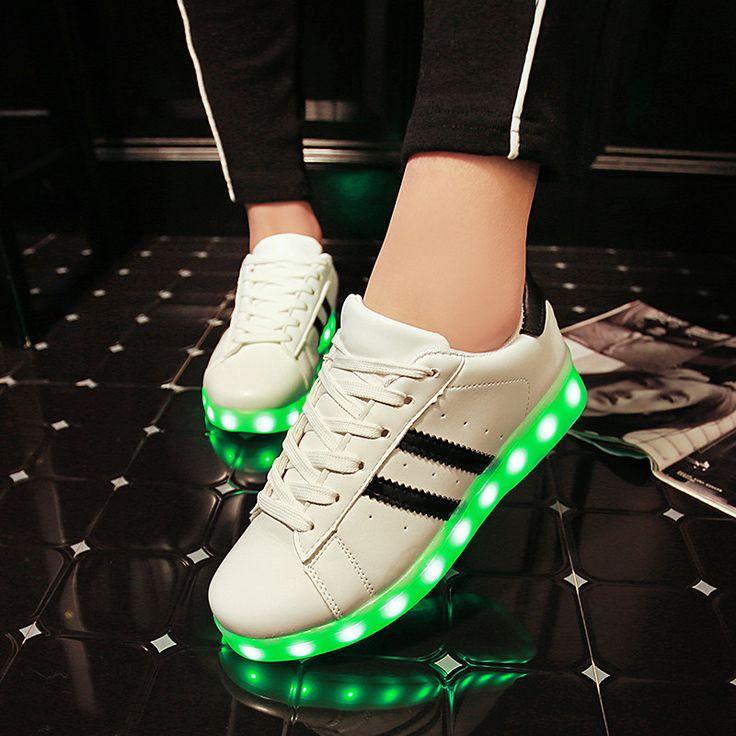 Wholesale Men adult Fashion Led Luminous Shoes 2016 Top Quality LED Lights USB charging Colorful Shoes Lovers Casual Flash Shoes  #sale #men #me #women #followme #wallets #gift #money #style #baby #graduation #smartwatch #belts #newarrivals #sexyshoes