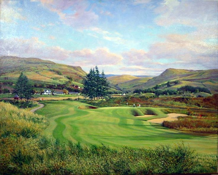 Donald Shearer The 1st PGA, Gleneagles Signed Limited Edition Print 10x14 | Scottish Contemporary Art