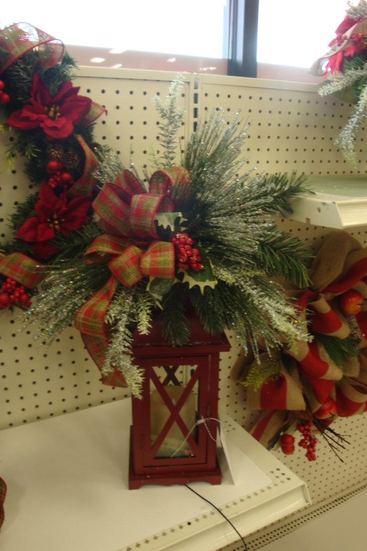 335 best christmas winter floral arrangements images on for Michaels crafts christmas ornaments