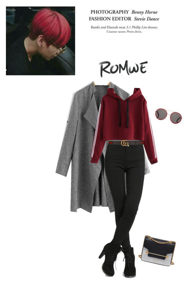 """""""Taehyung, cold date"""" by parkeunseo on Polyvore featuring Gucci and romwe"""