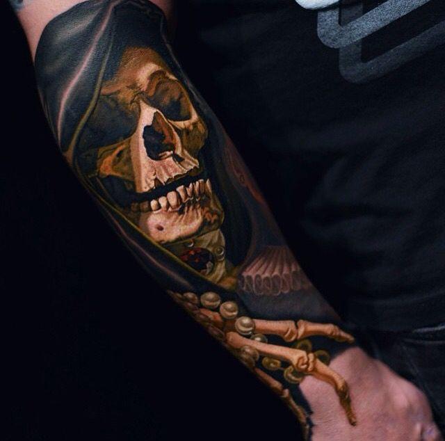 Amazing tattoo work by Nikko Hurtado on fellow artist Bili Vegas Tattoos #savemyink
