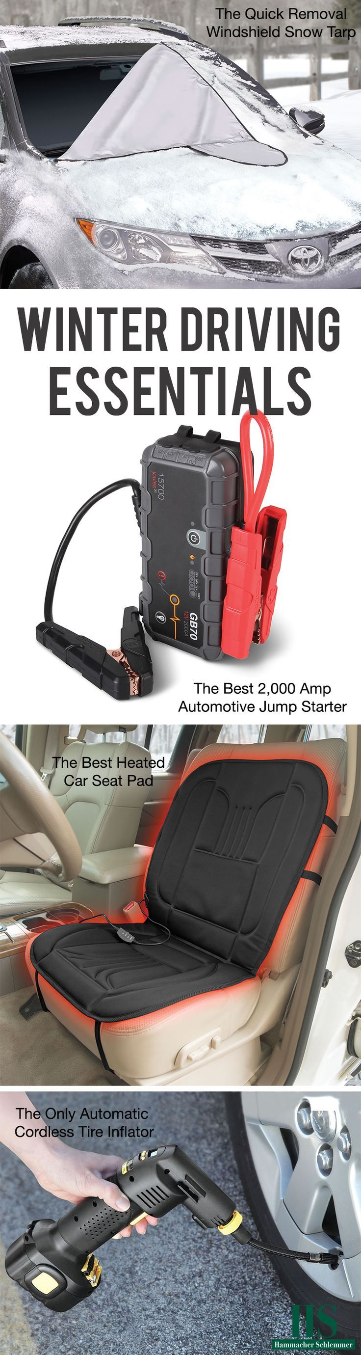 Winter Driving Essentials. Don't leave home without them this winter.