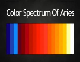 Colors of the Zodiac #astrology color palettes #Aries