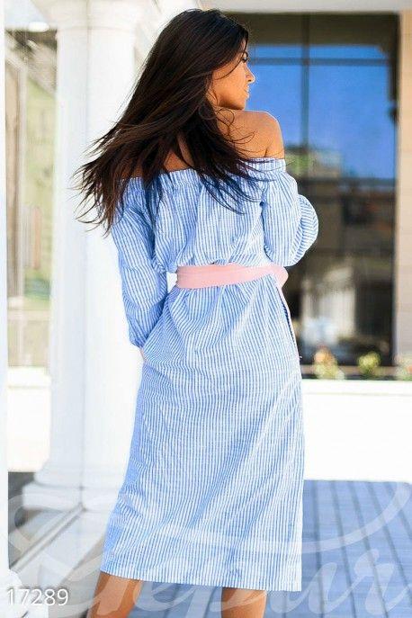 Gepur   Оригинальное полосатое платье арт. 17289 Цена от производителя…