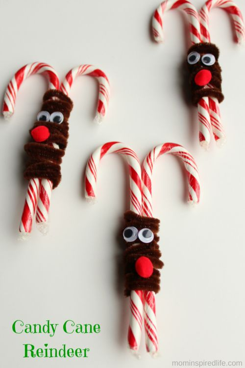Candy Cane Reindeer Treats