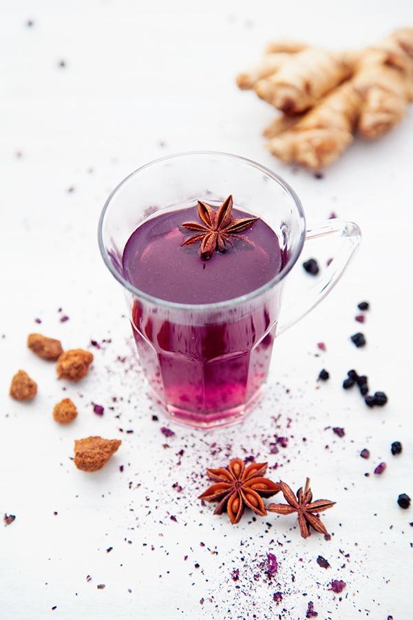 { Infusion Pure Purple } au maïs mauve, myrtilles et épices - p'tit dej