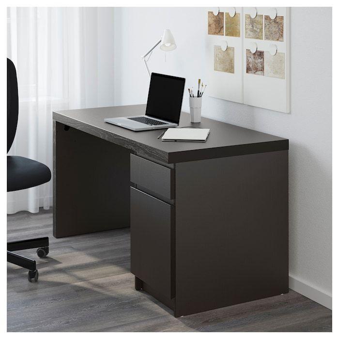 Malm Desk Black Brown 55 1 8x25 5 8 Ikea Ikea Malm Desk Black Desk Malm