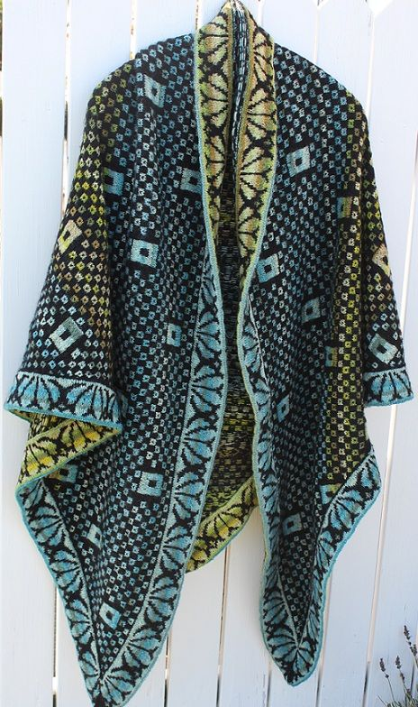 Square Scarf - pattern knit, knitting kits with strikkeopskrif