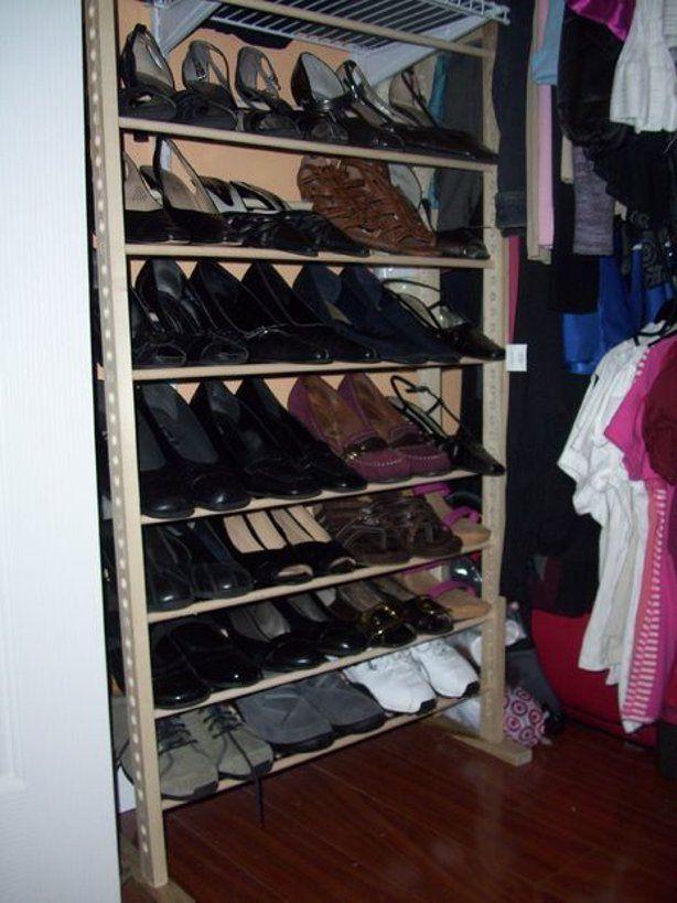 1000 ideas about vertical shoe rack on pinterest shoe. Black Bedroom Furniture Sets. Home Design Ideas