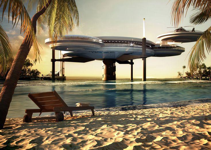 Water Discus underwater hotel by Deep Ocean Technology // El hotel bajo el agua, más grande del mundo. #Habitat