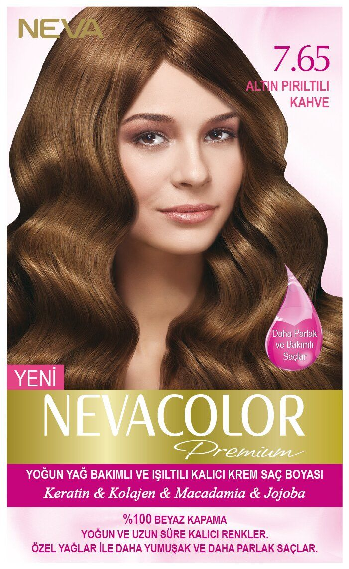 Neva Color Premium Sac Boyasi 7 65 Altin Piriltili Kahve