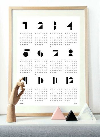 snug.studio|snug.calendar2014|ポスターカレンダー2014(white)