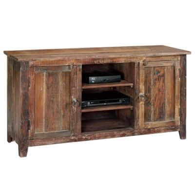 Home Decorators Collection Holbrook 58 In. W Reclaimed Natural Media Cabinet 0179300950  At The