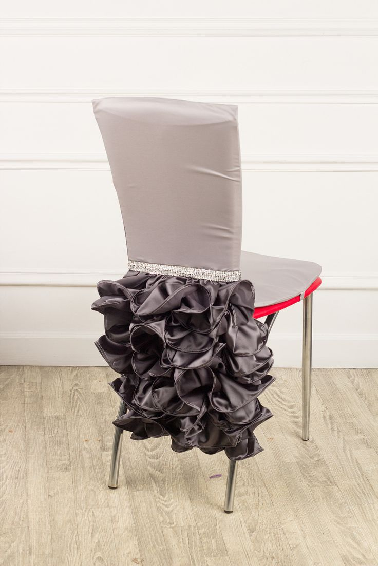 Case on a chair for a holiday silver/ чехол на стул для праздника серебро