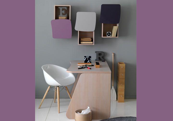 Παιδικό γραφείο μοβ Area60 furniture plus