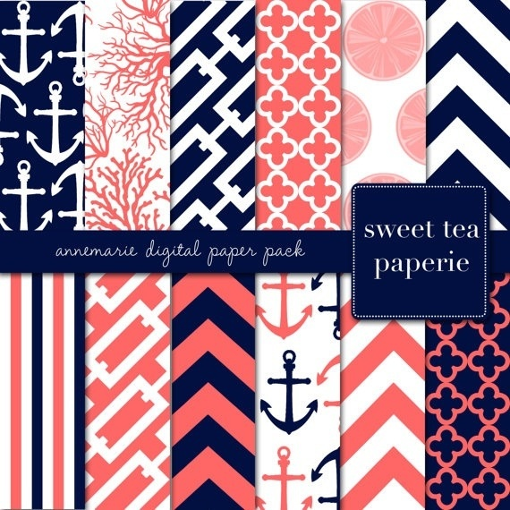 Navy and coral Ella big girl room?  Love these colors if we have a girl
