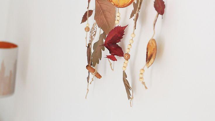 Autumn home decor, fall hinge, leaves, diy, easy, cute, idea