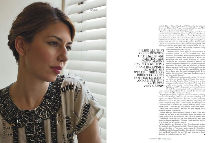 Sofia Coppola by Paul Jasmin for Vogue Australia August 2013 | the ...